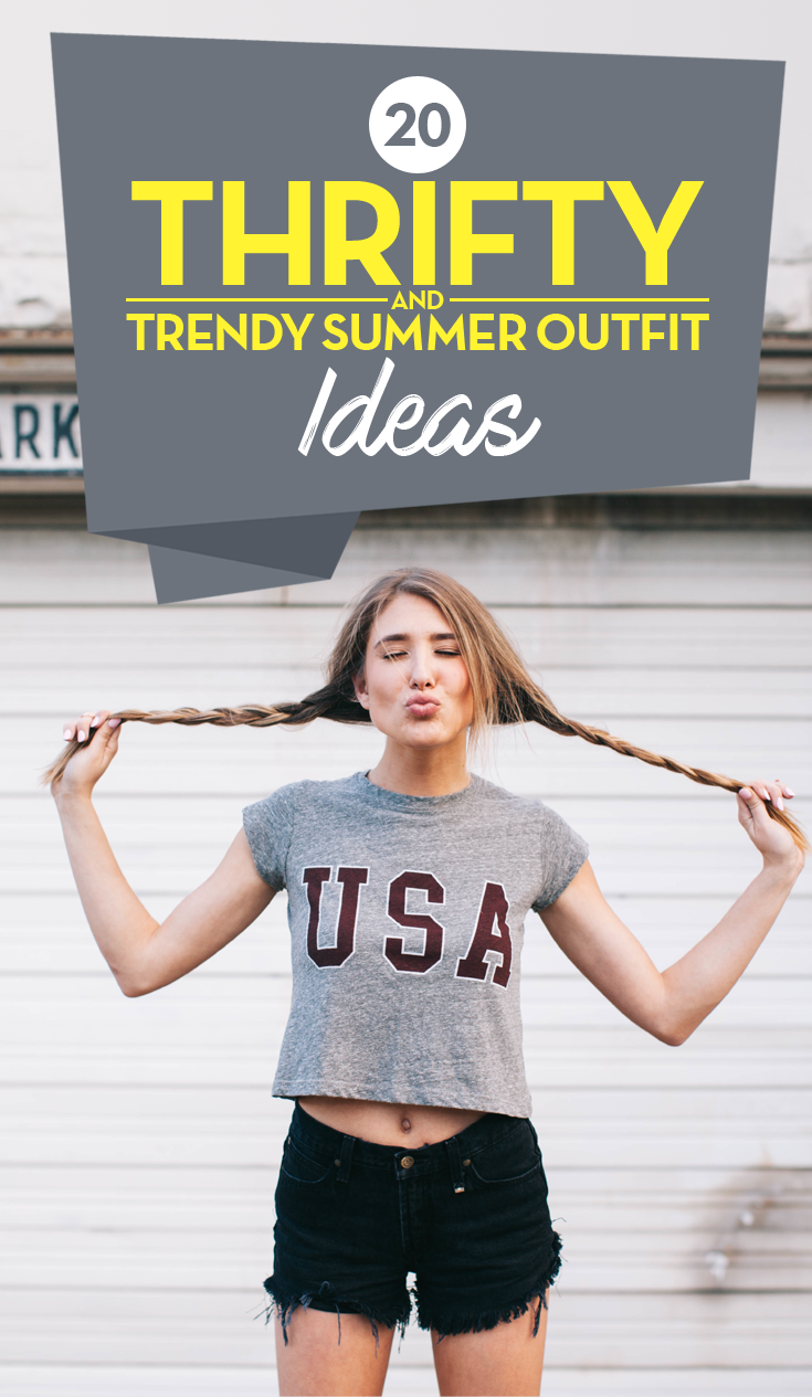20 Thrifty and Trendy Summer Fashion 2017 Outfit Ideas #SummerOutfit #SummerStyle